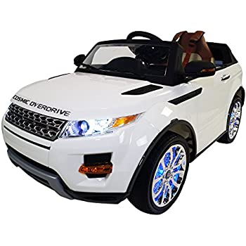 Range Rover Style Premium Ride On Electric Toy Car For Kids - 12V Battery Powered - LED Lights - MP3 - RC Parental Remote Controller - Leather Seat ...