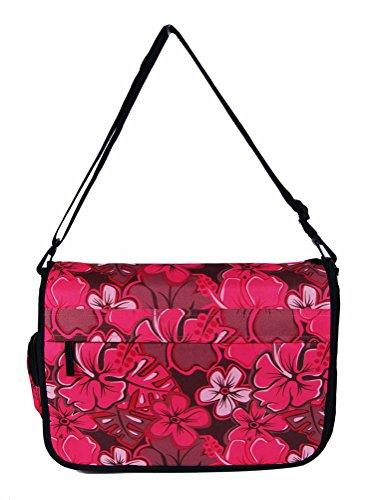 Para hombre mujeres señoras Unión Jack Diseño de flores/lisa cross-body Messenger bolsa de envío escuela Universidad Trabajo Bolsa de hombro Rosa Floral