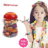 Arts & Crafts : 230 PCS Snap Beads Set - Picowe Kids' Jewelry Making Kits for Necklace and Bracelet for Girls Art Crafts Gift Toys