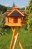Deko-Shop-Hannusch Nichoir à oiseaux sur pieds avec tuiles en asphalte