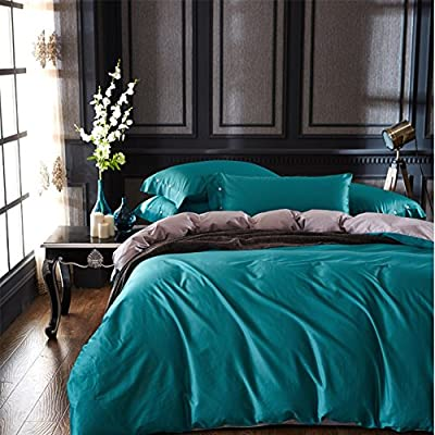 DACHUI Cotton bed sheets - 1800 beds fade, stain resistant - Hypoallergenic - 4 units (color) - H King