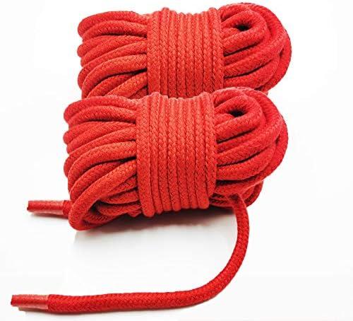 2 piezas de 10 m // 33 pies 8 mm rosa cuerda multiusos para manualidades de cuerda gruesa de algod/ón trenzado Cuerda de algod/ón suave de WYMAODAN