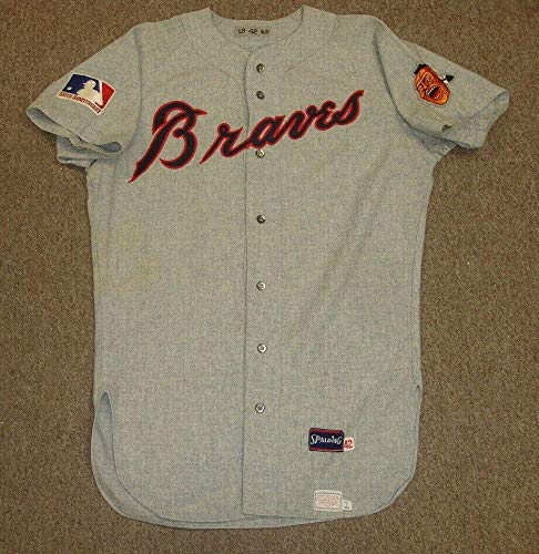 - 1969 Tito Francona Atlanta Braves Game Used Road Flannel Jersey #19 w/MLB Patch - MLB Game Used Jerseys