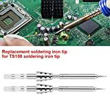 TS100 Soldering Iron Tip, Stainless Steel Soldering Iron Station Replacement for TS100 Mini Portable Soldering Iron