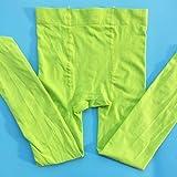 CoCocina 3 Pair Thin Professional Ballet White Pantyhose Plus File Anti-Pilling Velvet Children'S Dance Socks - Green - S