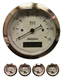 Dolphin Gauges-5 Gauge Programmable Set - Gold