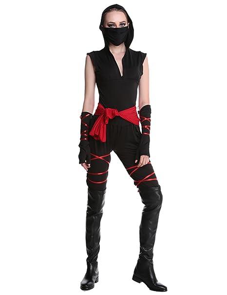 Ninimour Adulto Disfraz de Ninja Halloween Cosplay Costume ...