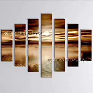 Oversized contemporary wall art seascape for Bathroom paintings amazon