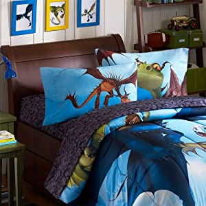 How To Train Your Dragon 4 Piece Double Bed Sheet Set No