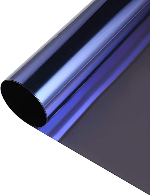 Silver one way mirror window sticker film 5ft x5ft privacy security insulation