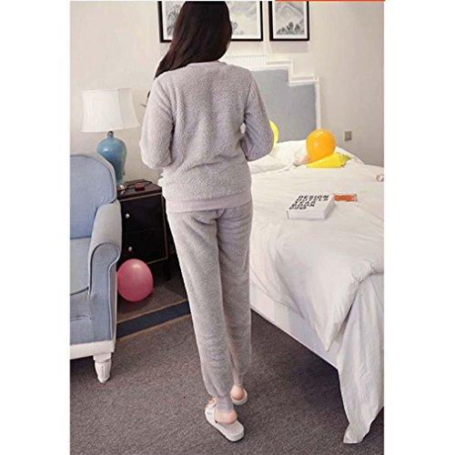 Winter Luxury Pajamas Velvet Women Shuipao Pajamas Warm And Comfortable Home Service Cozy Flannel Pajama Set , m , C by moxin (Image #2)