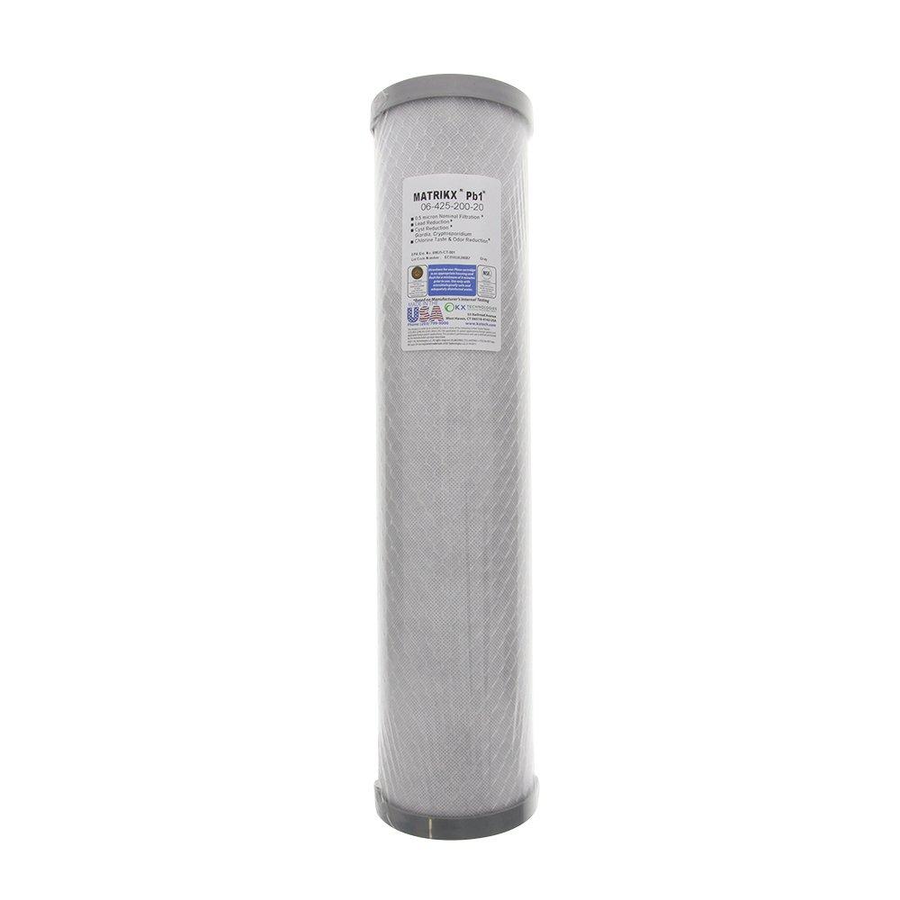 Cyst Chlorine Taste and Odor Reduction Filter KX-MATRIKX-PB1-HD20 Big Lead 20-Inch Blue KX Matrikx