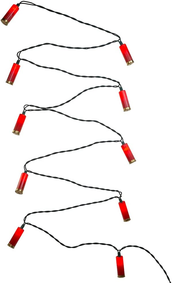 Kurt Adler UL 10-Light Red Shotgun Shell Light Set