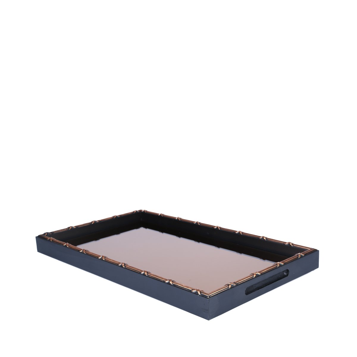 Woodart Croisé Wooden Serving Tray with Handles (Brown, 19x11) by Wood Art (Image #2)