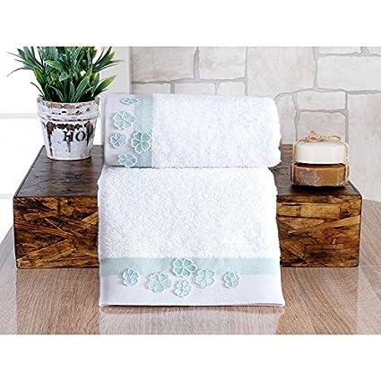 Serra Home Hotel y Spa Lis toalla de bordado (50 x 90 cm),