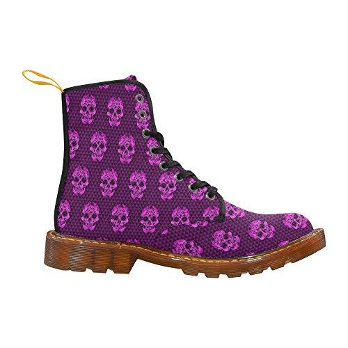 For Fashion LEINTEREST Men LEINTEREST Skull pattern Boots Skull Shoes Martin n8vBxT