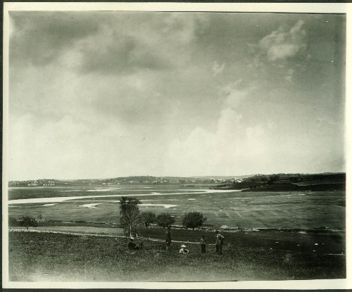 Panorama of Old Winthrop Massachusetts 8x10 photo from glass plate ca 1900 - Photo Old 1900