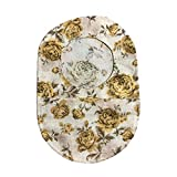 Ostomy Bag Cover Shabby Chic Rose Yellow, 3.25 inch Opening