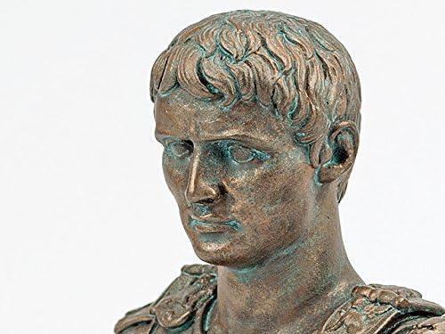 Augustus Kaiser Büste Bronzefarben Römer Statue Forum Traiani