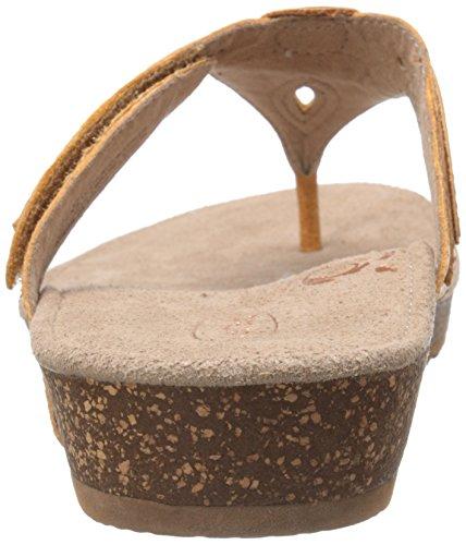 Terri Women Aetrex Thong Petal Mustard Sandal Slide 1Pcwqd