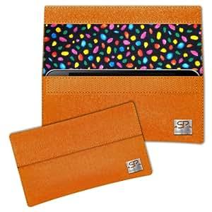 SIMON PIKE Cáscara Funda de móvil NewYork 13 naranja Blackberry Z10 Fieltro de lana