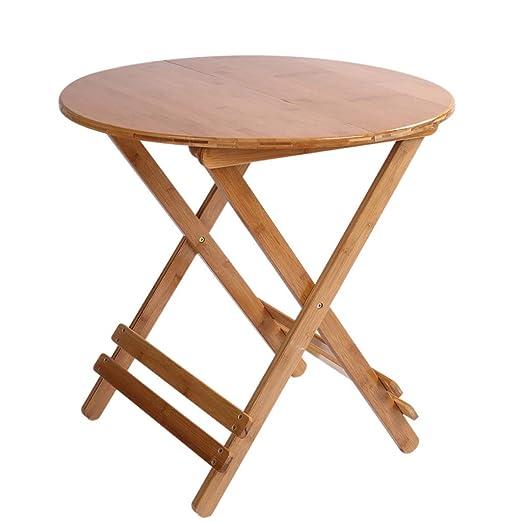 mesa plegable LITING Mesa de Comedor Mesa de bambú Portátil Mesa ...