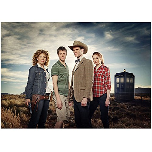 Alex Kingston as River Song in western setting with Dr. Who cast 8 x 10 Inch ()
