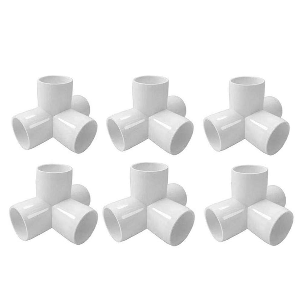 3//4 3Way 12pcs VonkPeter 3 Way PVC Elbow Corner Side Outlet PVC Corner Fitting Tee Fitting PVC Elbow Fittings for Build Heavy Duty PVC Furniture,Greenhouse shed Pipe Fittings and Tent Connection