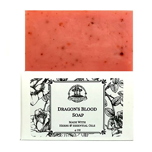 Dragons Blood Shea Butter Soap 4 Oz Bar Handmade For Love  Power  Purification   Protection  Wiccan  Pagan  Hoodoo  Voodoo