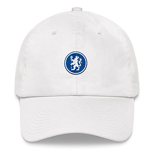 Tees of All Time Chelsea Hat - Chelsea Minimalist Badge - Premier League Hat - Soccer Hats - Gifts for Soccer Fans (Badge Football Chelsea)