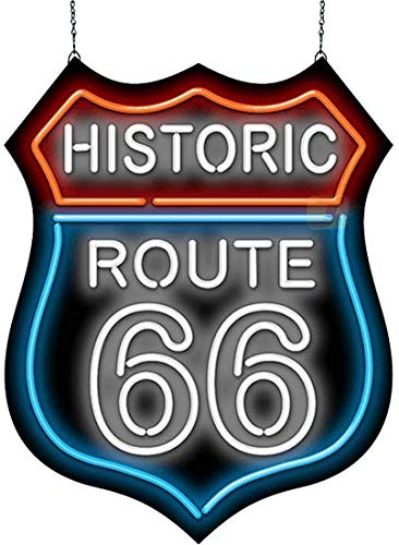 Historic Route 66 Neon Sign - 50s Neon Signs