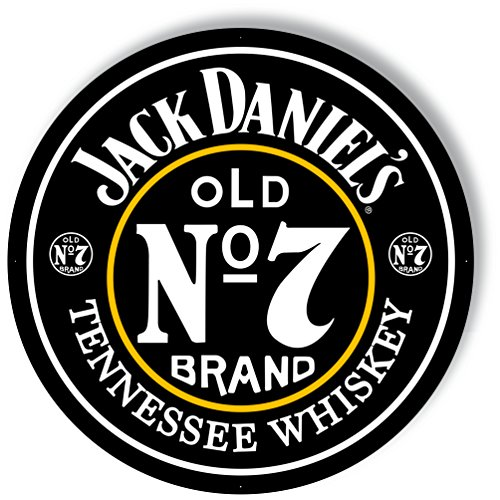 Jack Daniel's Old No. 7 - Large Aluminum Sign - 35'' Diameter by Jack Daniel's