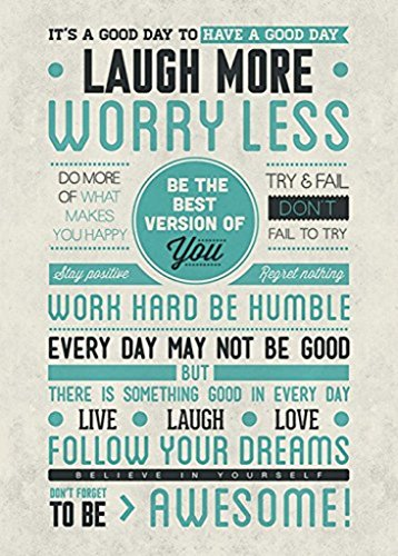 Be Awesome Quotes Inspirational Motivational Happiness Decorative Poster Print 24 By 36