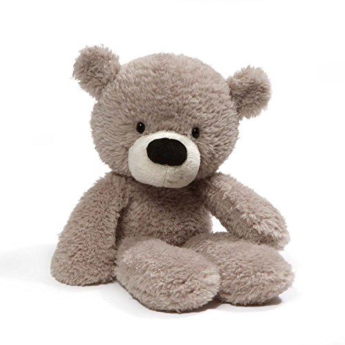 GUND Fuzzy Teddy Bear Stuffed Animal Plush, Gray, (Old Teddy Bear)