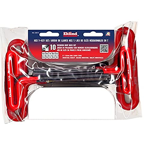 Eklind 53610 Standard 10pc T-Handle Hex Key Set 3/32