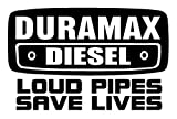 Duramax Diesel Loud Pipes Save Lives Decal Sticker - Peel and Stick Sticker Graphic - - Auto, Wall, Laptop, Cell, Truck Sticker for Windows, Cars, Trucks