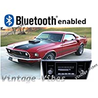 Bluetooth Enabled 1967-1968 Mustang 300w Slidebar AM FM Car Stereo/Radio