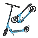 Apollo Big Wheel Scooter 200 mm - Spectre Pro Blue is a Luxury City Scooter with Double Suspension, XXL City Scooter Foldable and Height-Adjustable, Kick Scooter, Large Kickscooter for Adults and Children