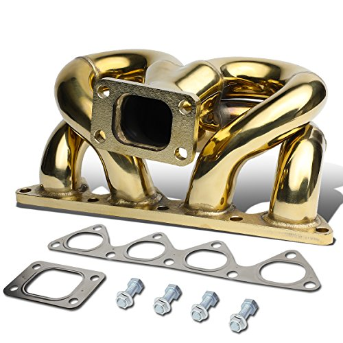- Anodized Stainless Steel 42mm T3 Ram Horn Exhaust Turbo Manifold for Honda Civic/CRX D15 D16 / Del So