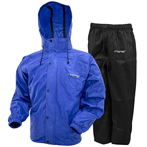Frogg Toggs All Sport Rain Suit, Indigo Jacket/Black Pant, Size XXX-Large