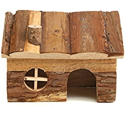 GohEunGyung shop 【S-Chimney Room】1pcs Hamster House Nest Ceramics Summer Cool Home for Rat Mice Mouse Toy House