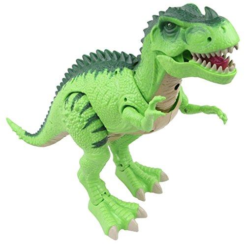 Sun Cling Electronic Toys Green Walking T-rex Dinosaur -