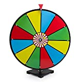 "24"" Classic Spin & Win Prize Wheel, 12 Slot Dry Erase Tabletop Game"