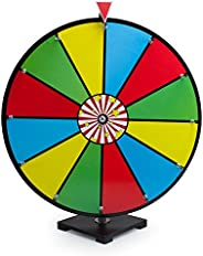 """24"""" Classic Spin & Win Prize Wheel, 12 Slot Dry Erase Tabletop Game - Great for Tradeshows, Carnivals"""
