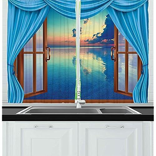 Kitchen Cafe Curtains Modern: Modern Kitchen Curtains: Amazon.com