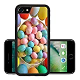 Luxlady Premium Apple iPhone 7 Aluminum Backplate Bumper Snap Case iPhone7 IMAGE ID: 25010136 Delicious Colorful Easter Treats