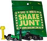 "Shake Junt Allen Bag-O-Bolts Green / Yellow Skateboard Hardware Set - 1"""
