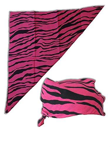 Macho Man Hat (Zebra Striped Colored Bandana for Macho Man Costume-Pink)