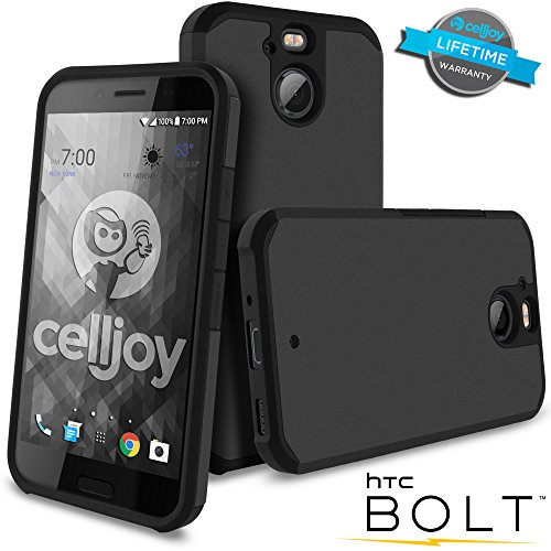 Celljoy Case compatible withHTC Bolt, HTC 10 EVO model [[Will NOT FIT HTC 10]] [Liquid Armor] [Dual Layer] Protective Hybrid [[Shockproof]] - Thin Hard Shell/Soft TPU Skin - Matte (Metallic ()