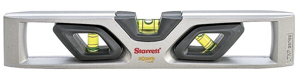 Starrett Exact Plus KLTXP10-N Die-Cast Aluminum Torpedo Magnetic Level with 3 Plastic 360° Vials, 10'' Length